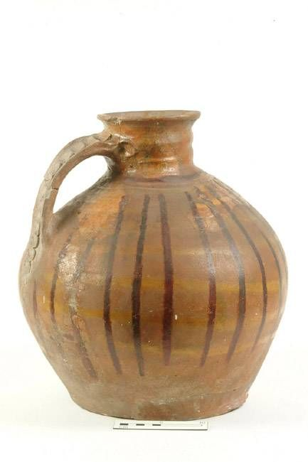 23111: jug Production date: Early Medieval; mid-late 12th century Measurements: H 378 mm; DM (girth) 340 mm