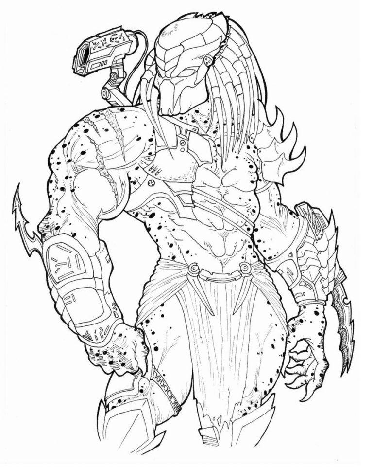 Predator Coloring Pages For Students Educative Printable In 2020 Predator Artwork Predator Alien Art Predator Art