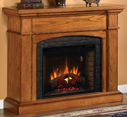 Wallace Electric Fireplace Oak, Oak Electric Fireplaces