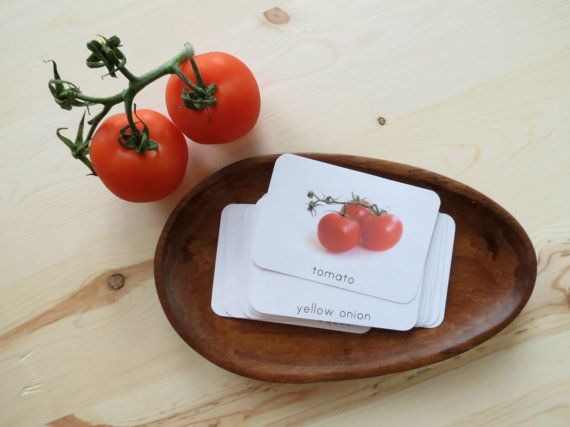 Vegetables- Montessori Toddler Language Cards- Vegetable Set