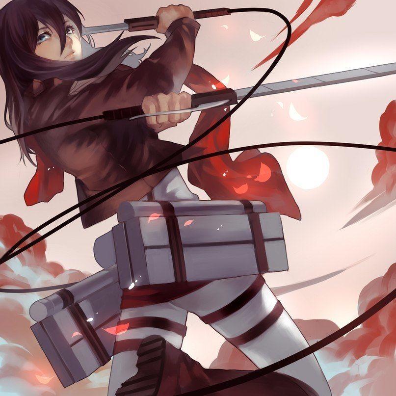 Mikasa Snk. Attack on Titan.