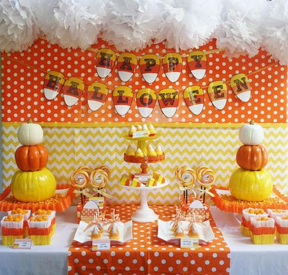 halloween party decorations printable candy corn by mimisdollhouse 999 - Candy Corn Halloween Decorations