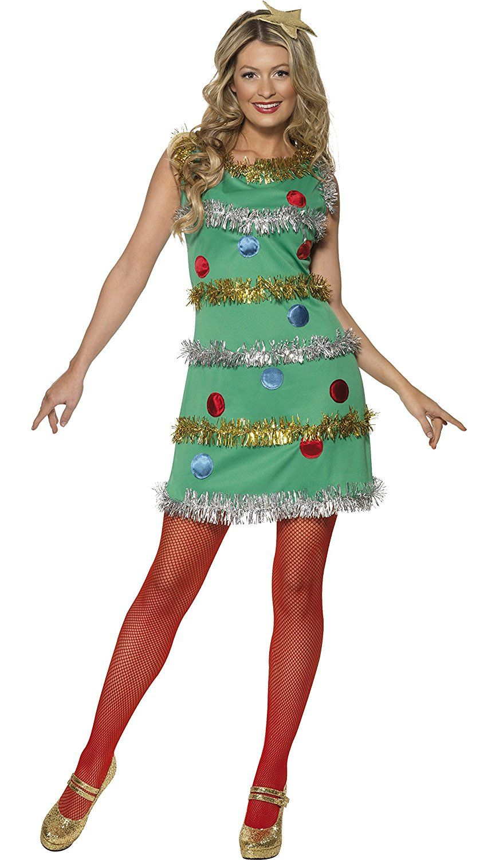 Amazon Com Christmas Tree Adult Costume Medium Clothing Rozhdestvenskie Kostyumy Rozhdestvenskie Platya Kostyumy Dlya Zhenshin
