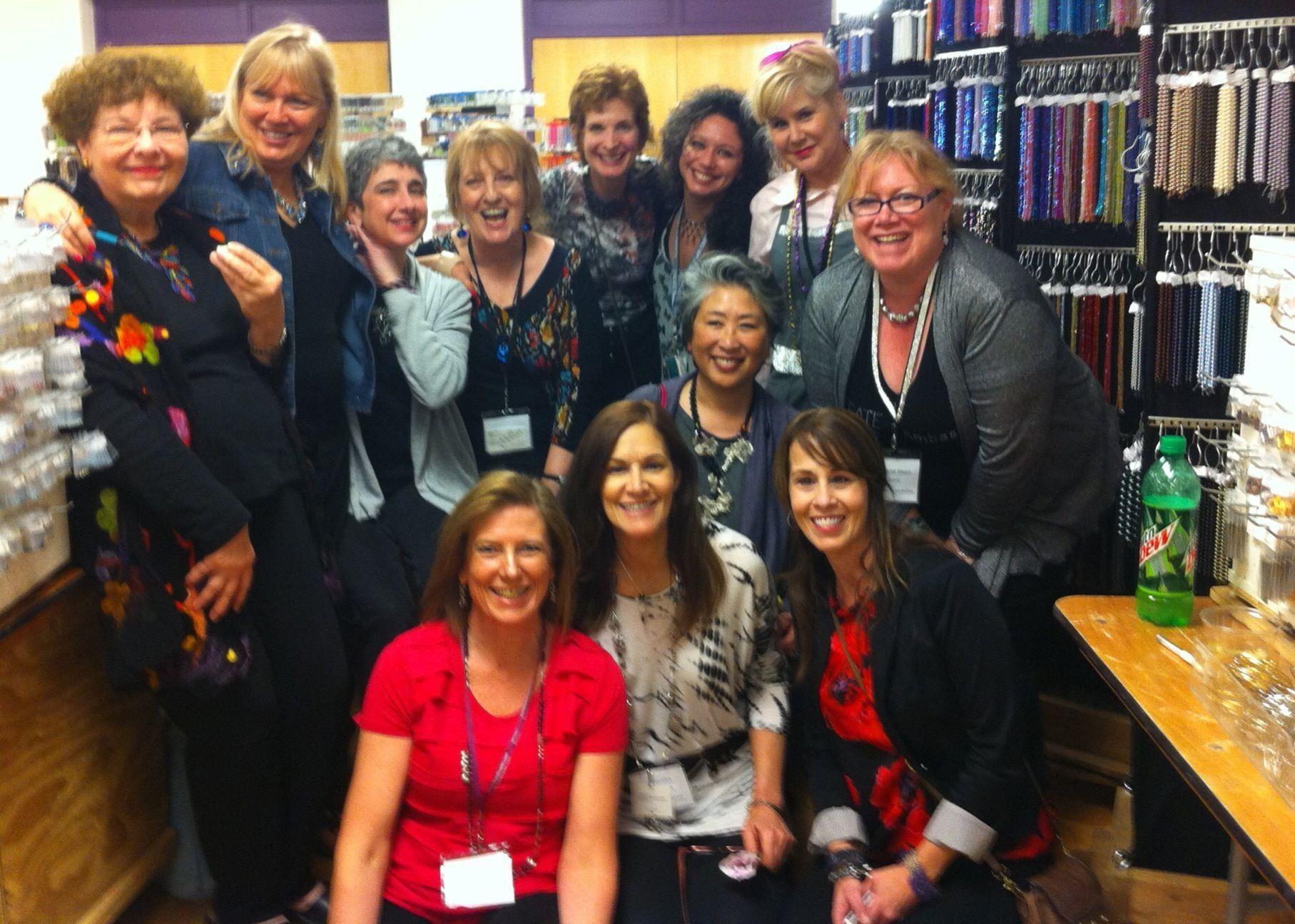 Swarovski Ambassadors (and proud editor) at book signing at Beyond Beadery in Tucson, AZ!