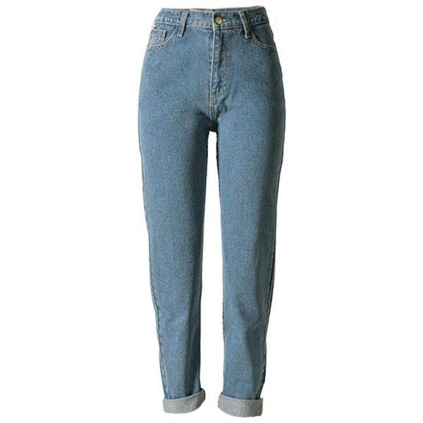 7c560c8744c5c Women s Vintage High Waist Boyfriend Style Denim cowboy Pants Jeans...  ( 40) ❤ liked on Polyvore featuring jeans