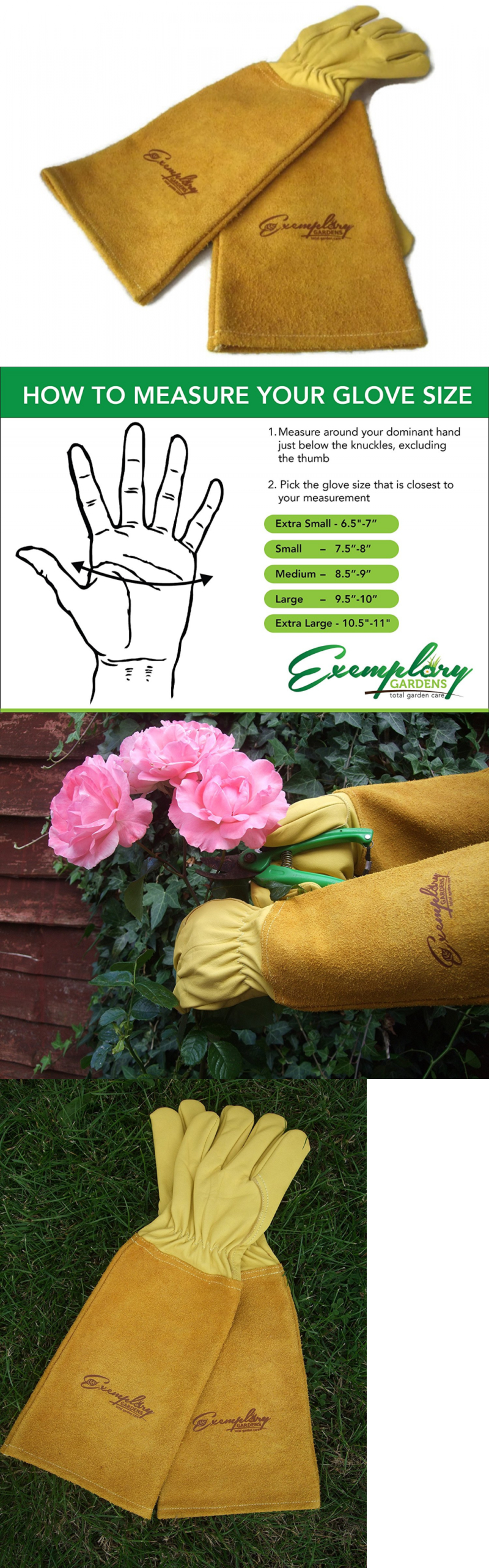 Gardening Gloves 139864: Rose Pruning Gloves For Men And Women. Thorn Proof  Goatskin Leather