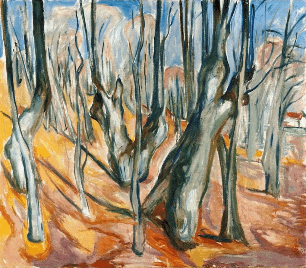 Elm Forest in Spring 1923-25. Edward Munch (1863-1944)