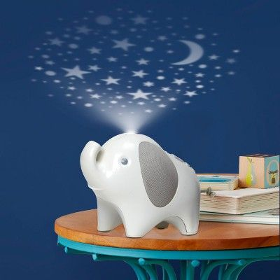 Skip Hop Moonlight Melos Elephant Nightlight Soother White