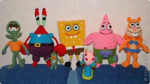 Игрушка Вязание крючком Спанч Боб и его друзья Пряжа фото ...