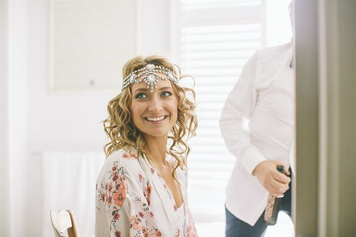 Bride wears Bo and Luca headpiece | I take you #headpieces #bridalheadpiece