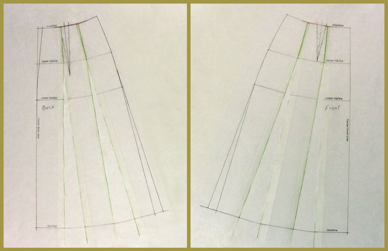 A Line Skirt Pattern Making Drafting Video Lesson