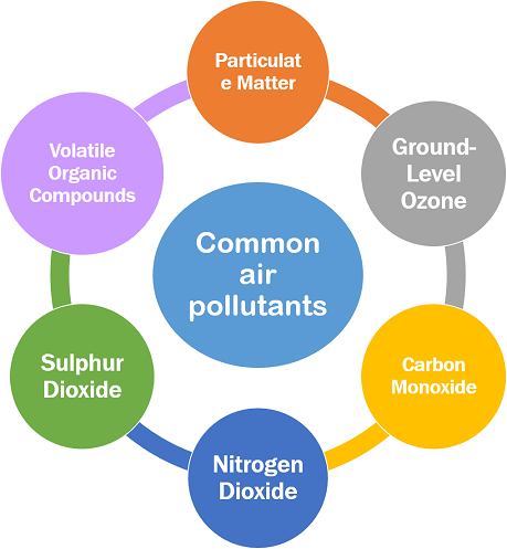 different types of pollution Even healthy people can experience health impacts from polluted air including  respiratory irritation or breathing difficulties during exercise or outdoor activities.