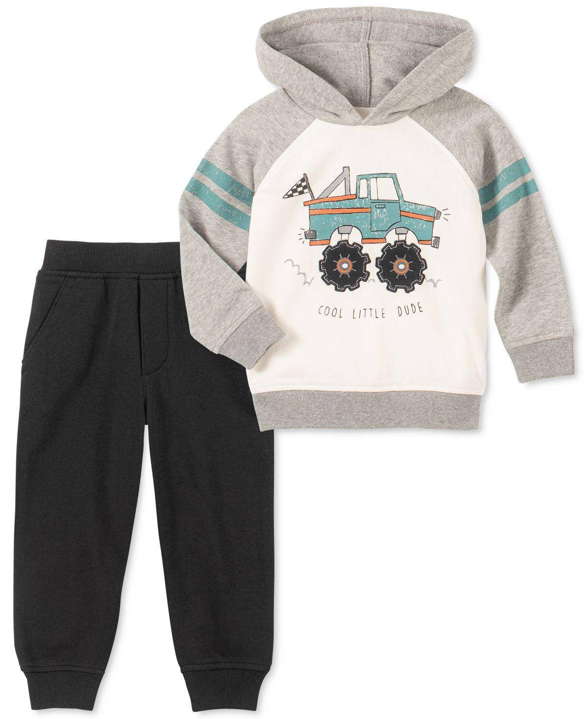 Kids Headquarters Baby Boys 2 Pc Truck Hoodie Jogger Pants Set Assorted Kids Headquarters Kids Outfits Hoodie Set [ 1467 x 1200 Pixel ]