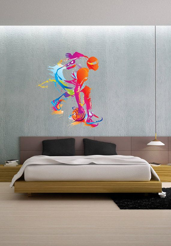 Colorful Basketball Player Color People Sports  Full @ www.uBerDecals.ca