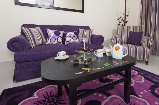 Purple is a color of royalty It goes best with classic style décor