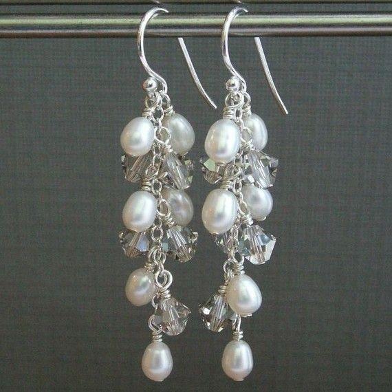 sample of bridesmaid earrings