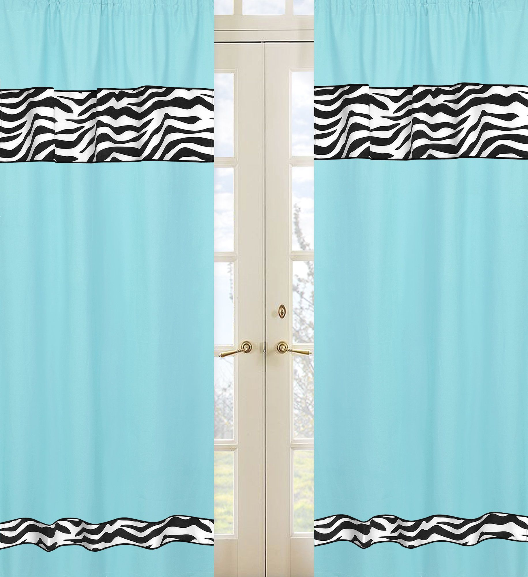 Zebra Curtain Panels