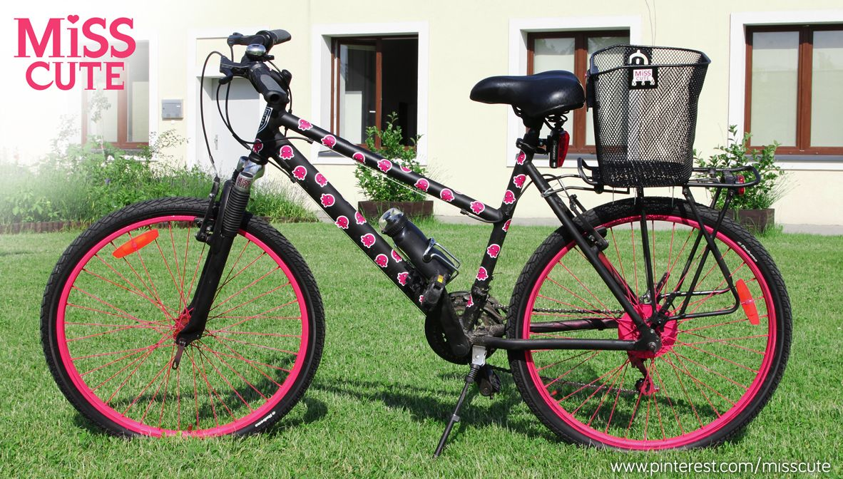 My Bike D I Y Makeover Matte Black Paint Neon Pink Paint And