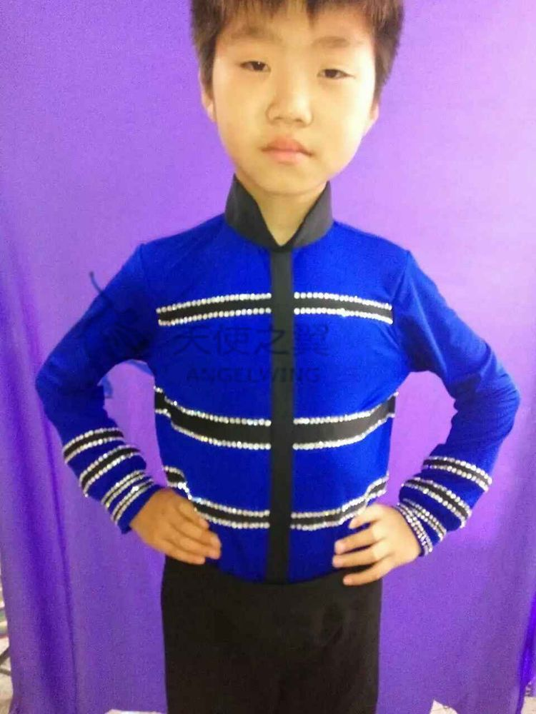 boys ice skating clothing man figure skating dress competition custom children #angelwing