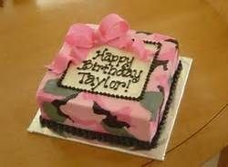 Brilliant Pink Camo Cake With Images Camo Birthday Cakes Funny Birthday Cards Online Overcheapnameinfo