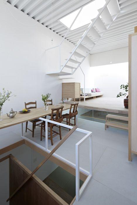 escaleras interiores obra nueva consultorio hogares techos arte actualidad