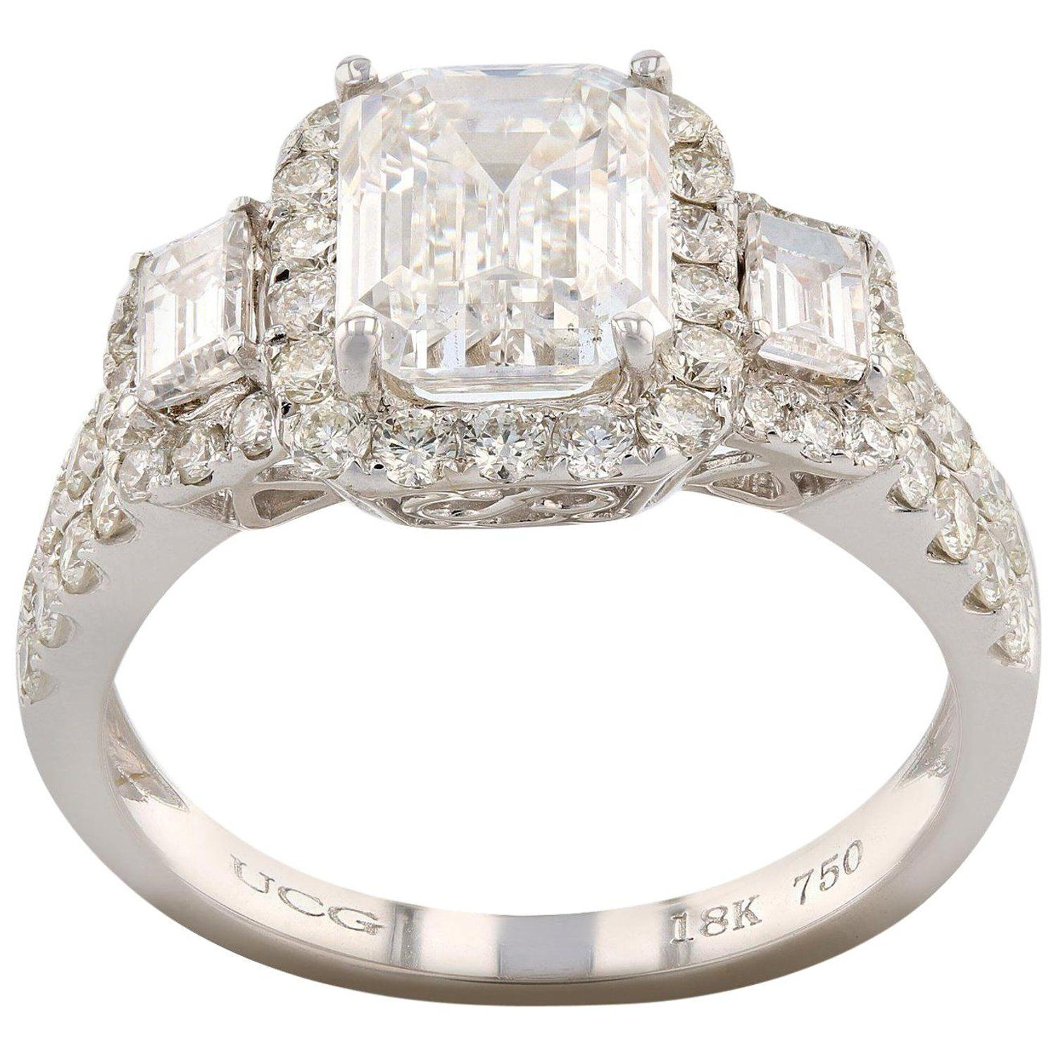 GIA Certified 2 04 Carat SI 1 Diamond Engagement Ring