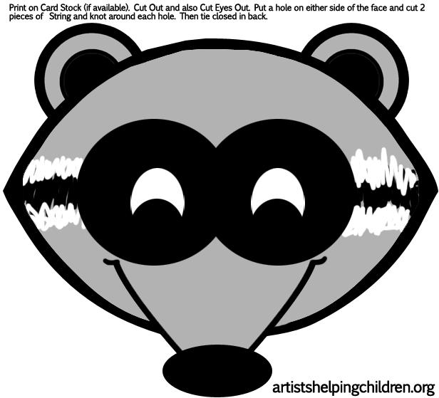 Printable Raccoon Template Pattern