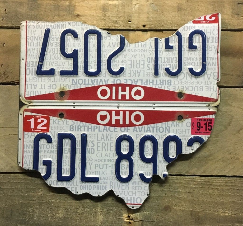 Modern Ohio - License Plate Art | License plates, Ohio and Planes