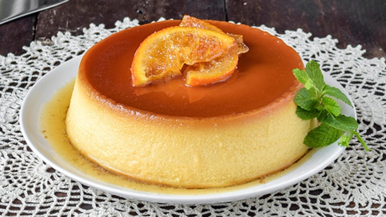 Sin Horno Exquisito Flan De Naranja Con Sólo 5 Ingredientes Flan De Naranja Recetas De Comida Flan