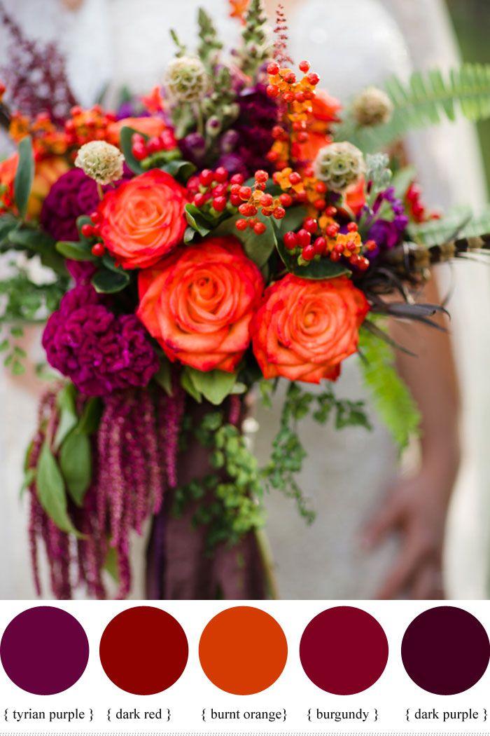 Color Inspiration Wine Red Color Palette Flowers Wedding
