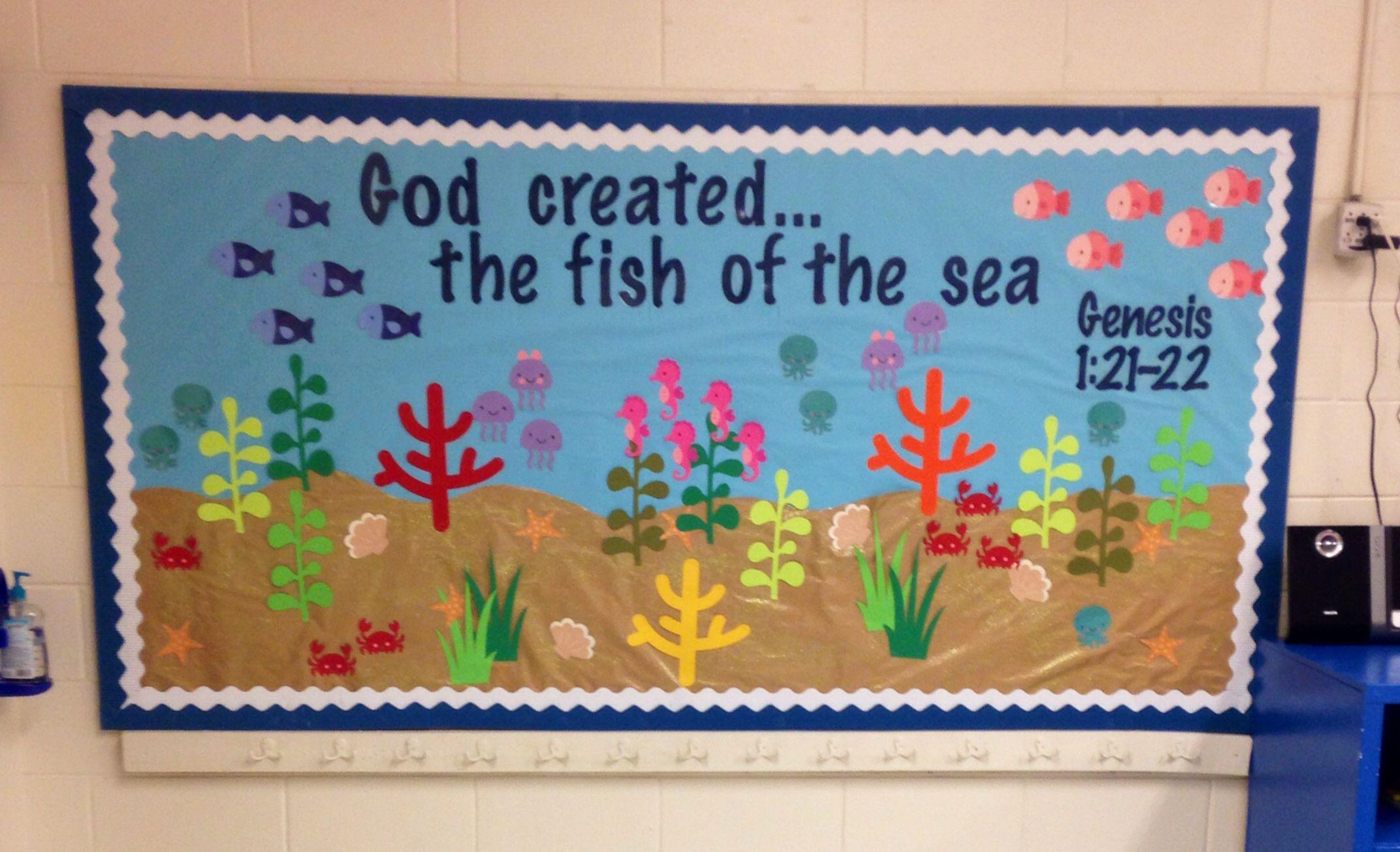 Classroom Ideas For Under The Sea ~ Under the sea classroom theme k bulletin board class