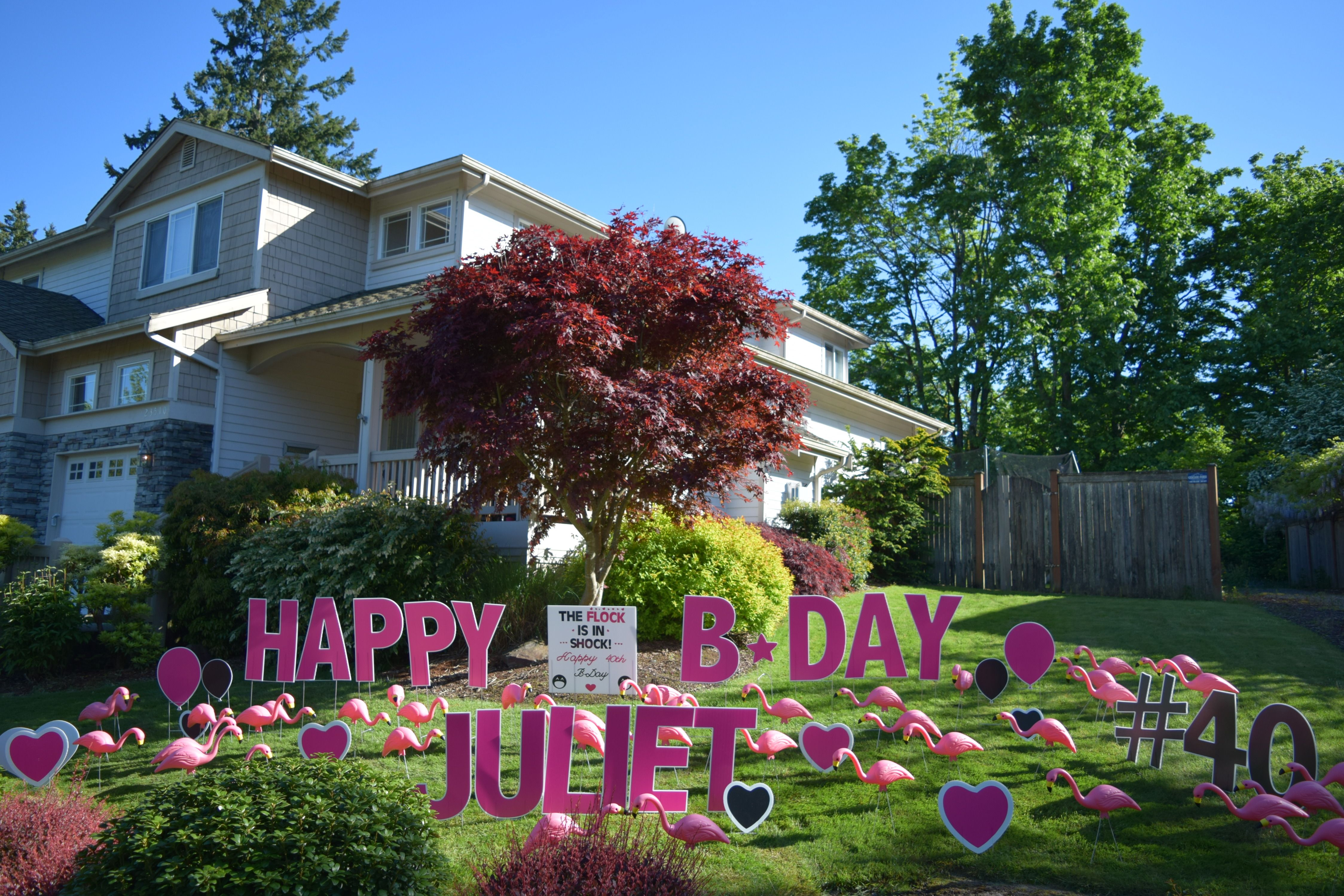 The Flock Is In Shock Birthday Yard Signs Lynnwood WA To Help You Decorate And Celebrate That Special Youve Been Flocked