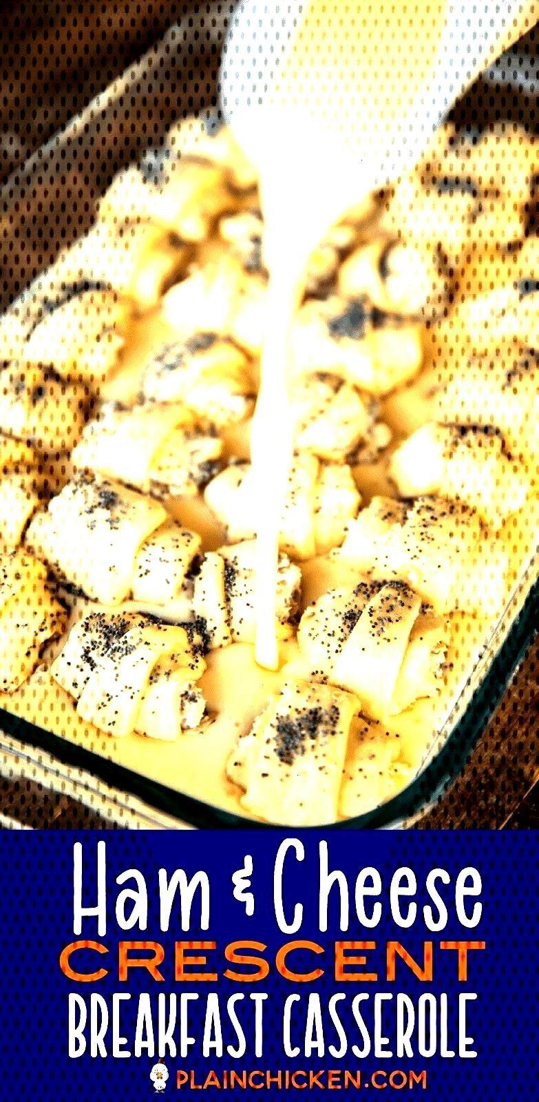 Ham amp Cheese Crescent Breakfast Casserole - seriously the BEST!!! Crescent rolls, ham, cheese, brow
