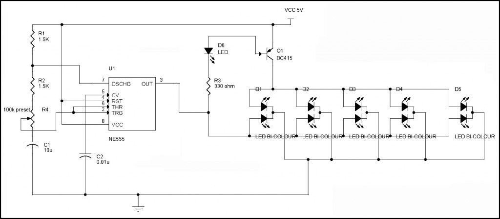led blinking circuits electronics pinterest circuits circuit rh pinterest com Light Fixture Wiring Diagram 3-Way Switch Wiring Diagram Variations