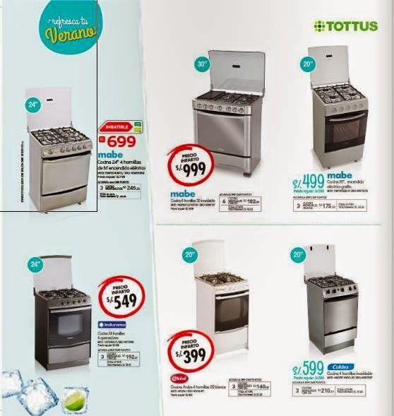 Cocinas A Gas En Oferta De Tottus Enero 2015 Catalogo Tottus