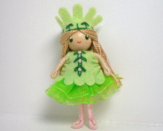 Princess Bendy Doll Waldorf Bendable Felt Doll by PNTdolls on Etsy.  Handmade Waldorf bendy doll.