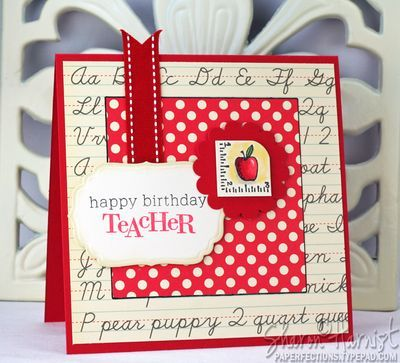 Birthday cards for teacher scrapbook pages card ideas birthday cards for teacher m4hsunfo