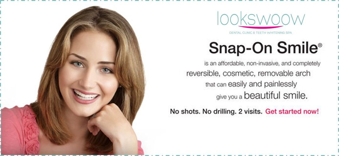 Come in for a Snap-On Smile consultation NOW! You choose from different smile designs and shades for your Snap-On Smile. In about 2 weeks, you can snap it in and wear it home. Change your smile…change your life. ‪#‎Lookswoow‬ ‪#‎snaponsmile‬ ‪#‎bestdentalclinic‬