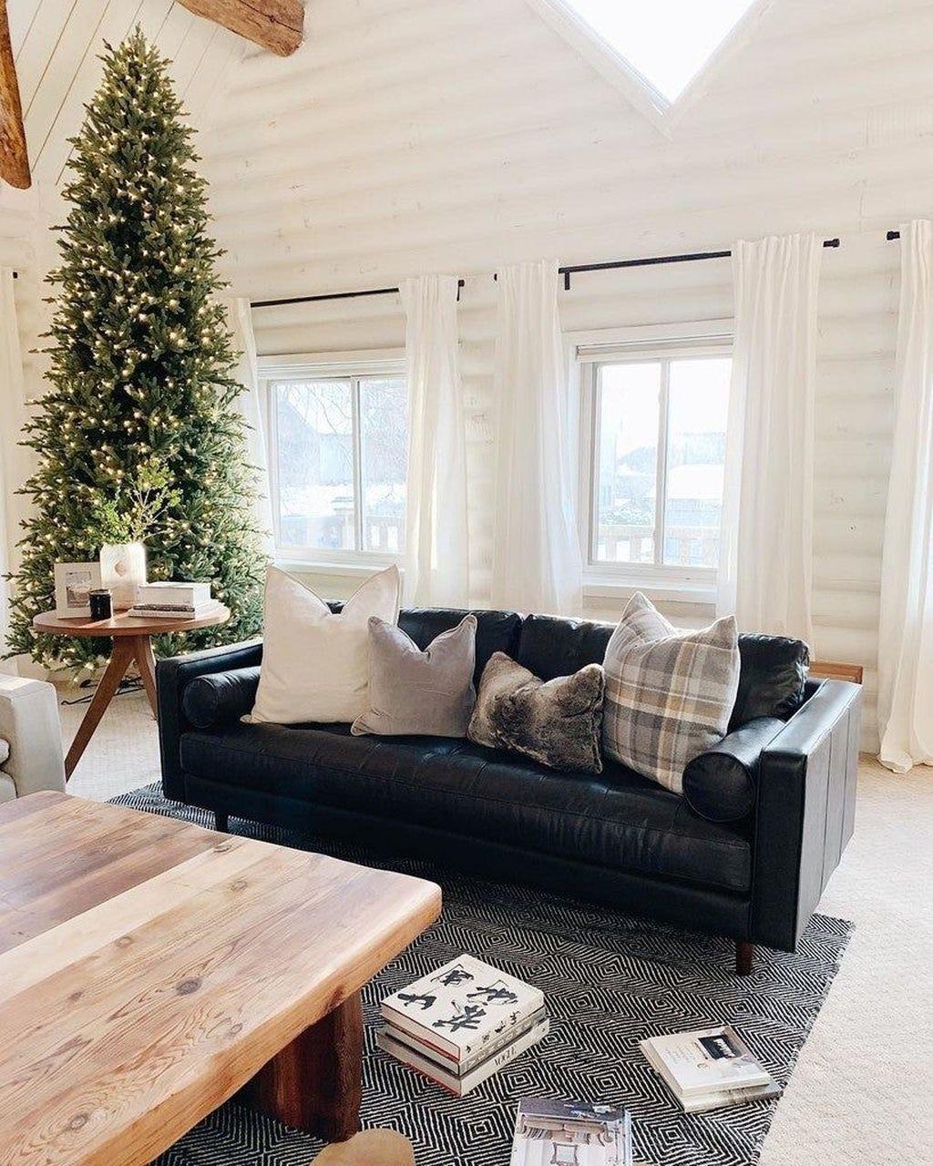 35 luxury black leather living room sofa ideas for
