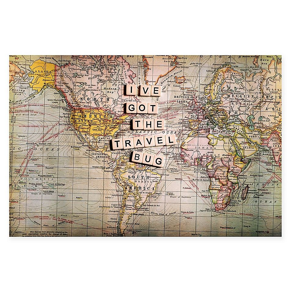 Marmont Hill i've Got The Travel Bug 36 X 24 Canvas Wall Art Multi #travelbugs