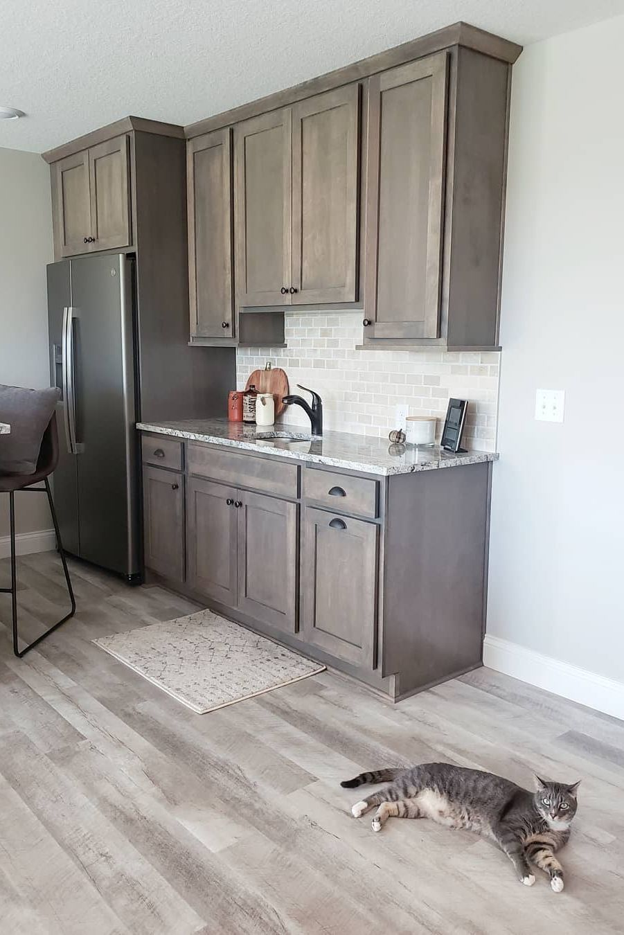 Would You Believe This Is A Basement We Almost Couldn T If It Weren T For Our Adura Max Vinyl Plan Bathroom Remodel Master Kitchen Cabinet Design Vinyl Plank