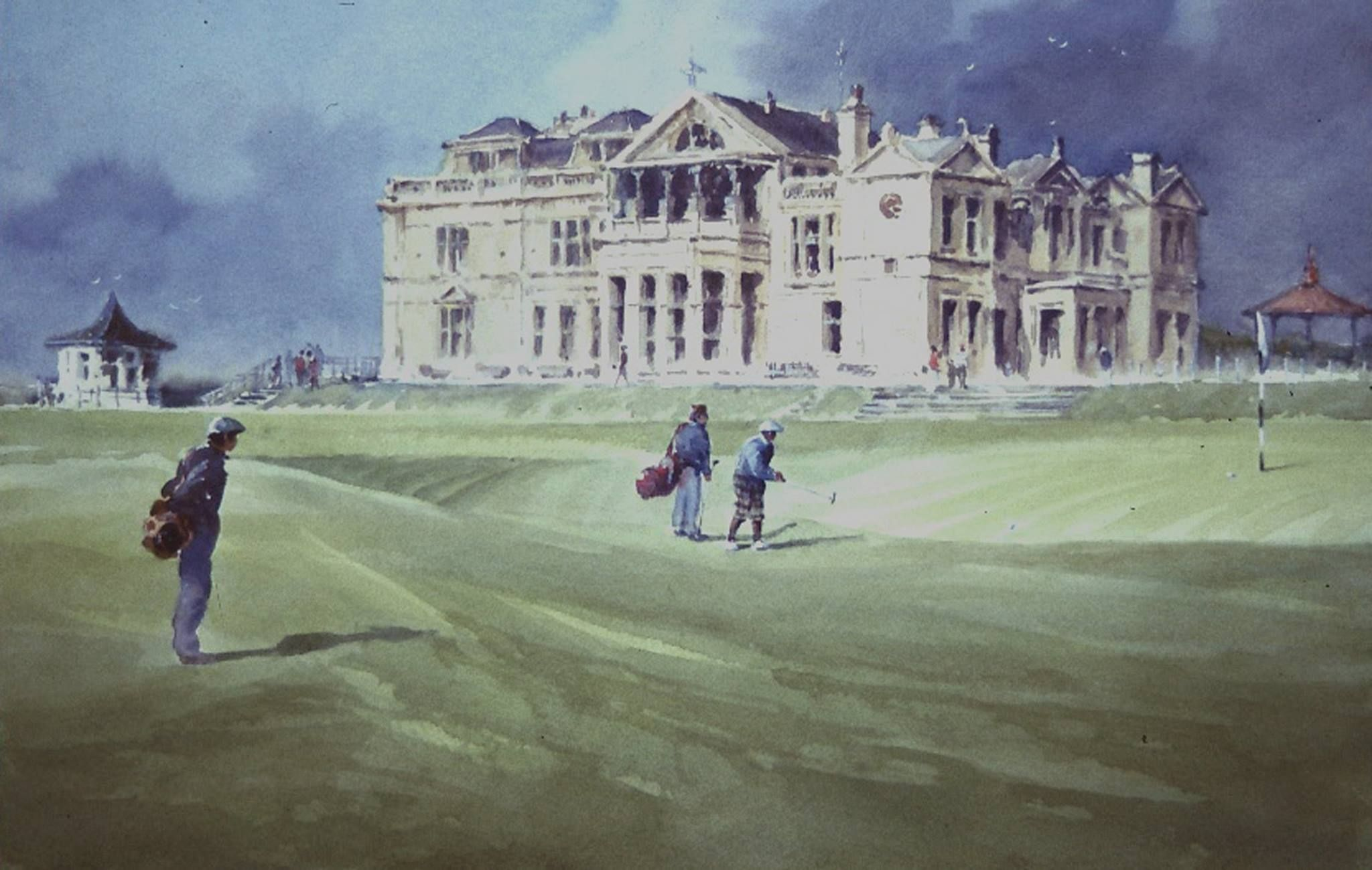 Robert Wade St Andrews18th Green 15x 20 Used