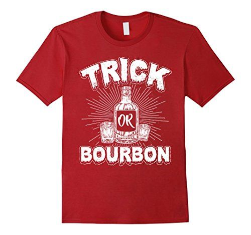 Trick or Bourbon Shirt Halloween Wine Lover Costume