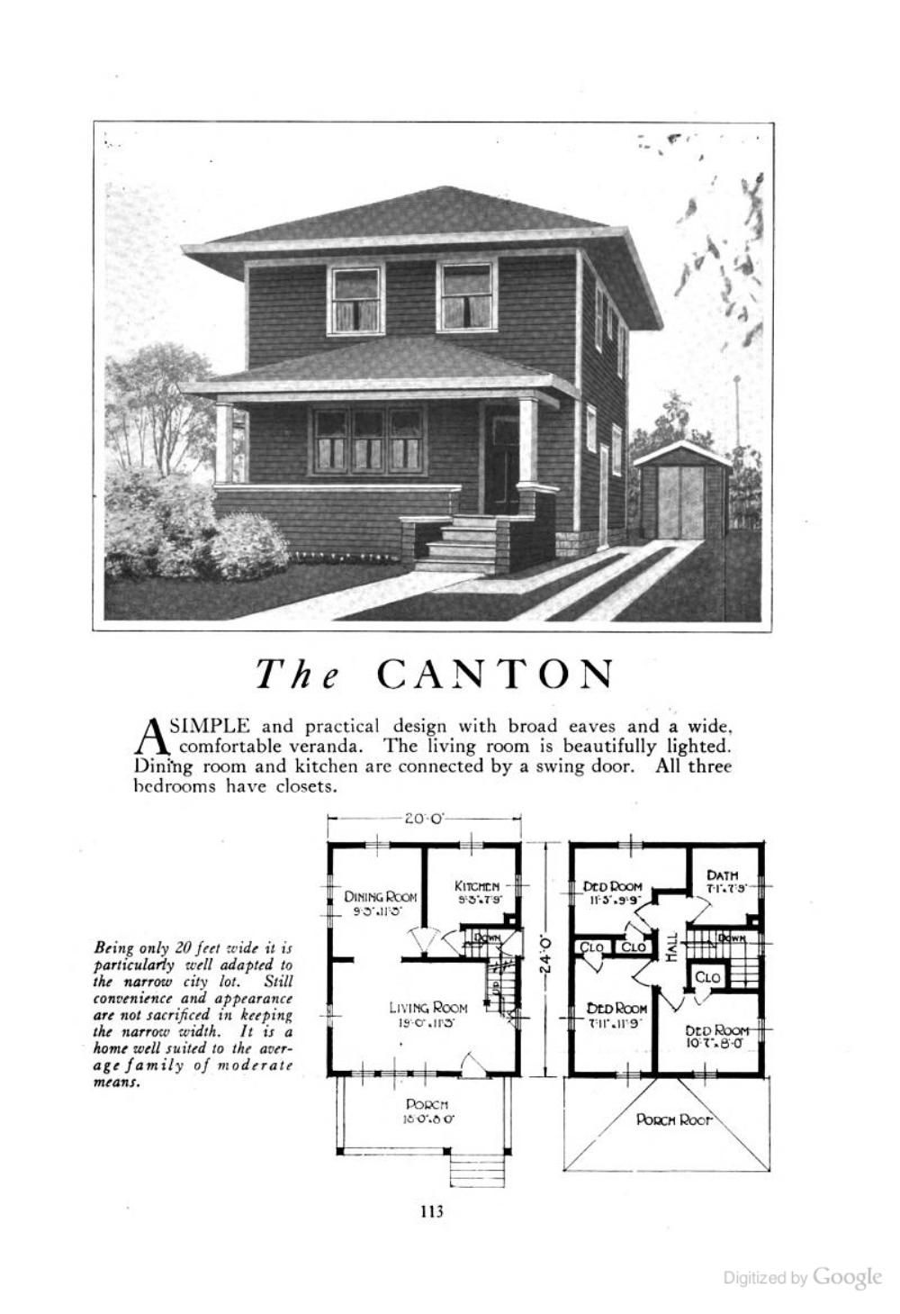 The Canton (an American Foursquare kit house/house plan