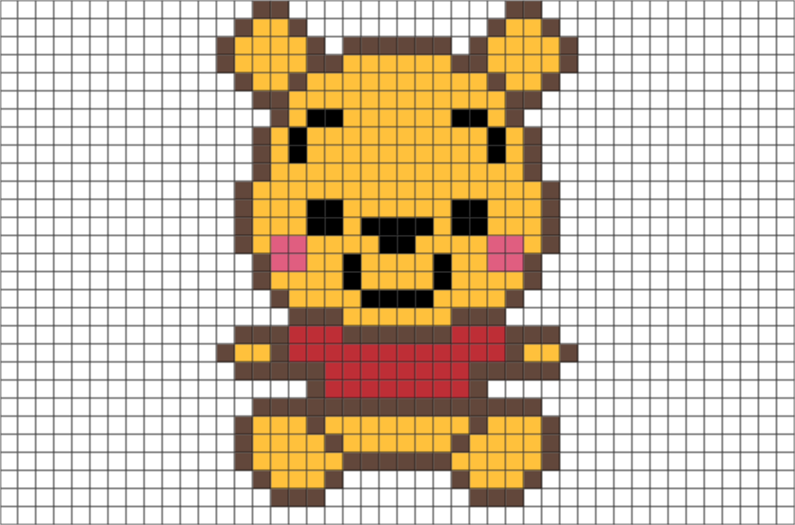 Baby Pooh Pixel Art