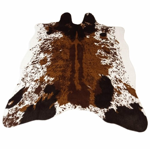 JaYe Large Size Faux Fur Cow Print Rug 4.9x6.6 Feet Faux