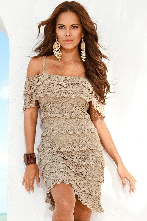 MADE TO ORDER  Crochet Dress  custom made, hand made, crochet -  cotton or rayon. $399.00, via Etsy.