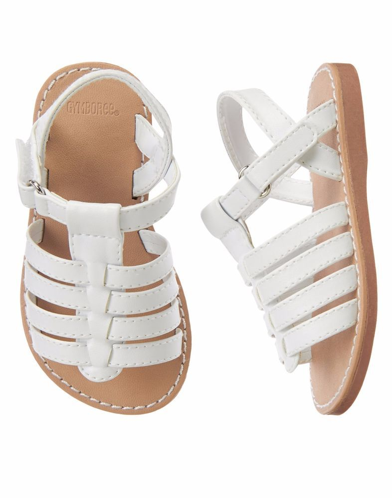 0ebf0b72311ebc Gymboree Girls Toddler 8 White Strappy Sandals Shoes NEW  Gymboree  Sandals