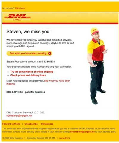 Reminder Email From Dhl Express  Kelvin Elee    Email