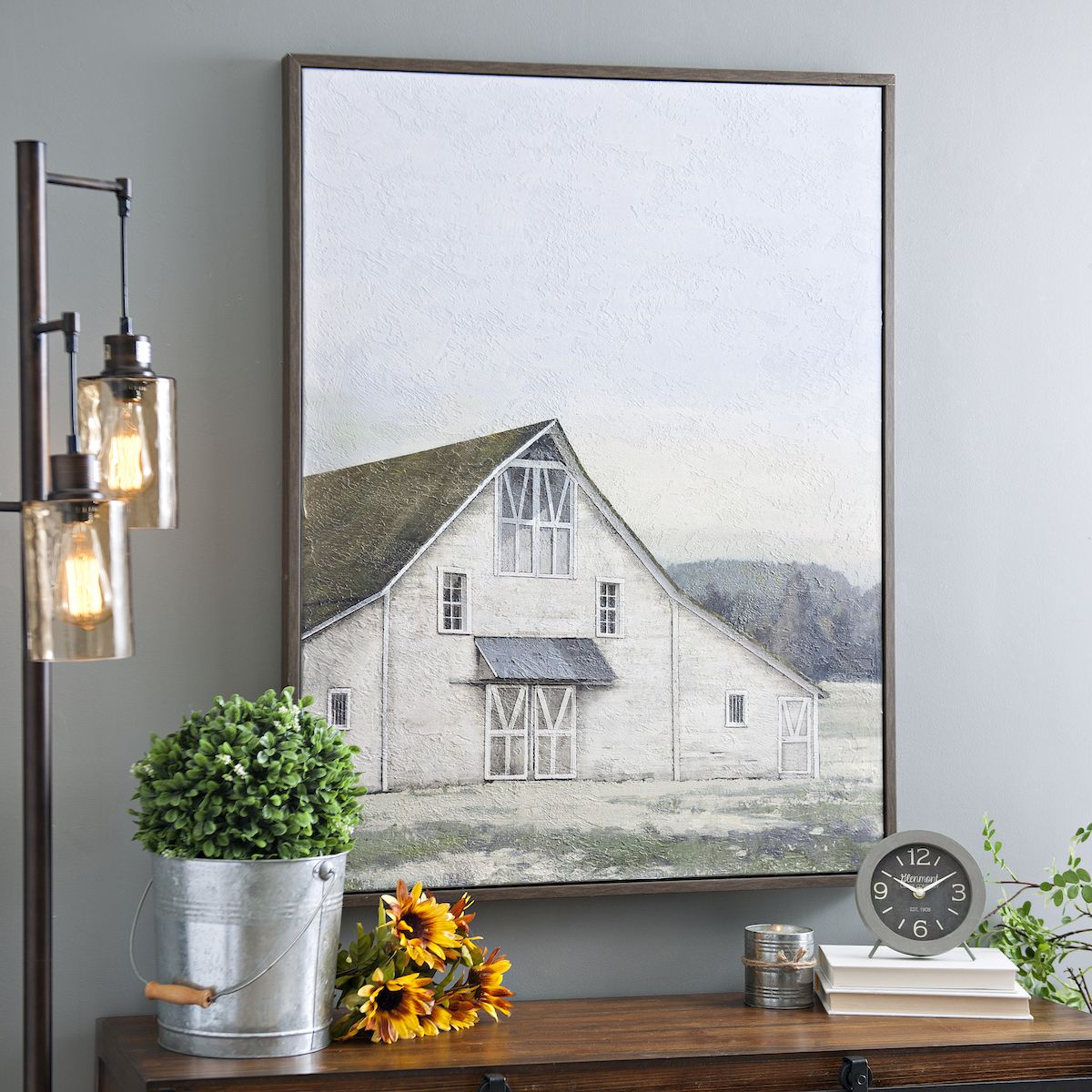 Product Details White Barn Framed Canvas Art Print in 2019